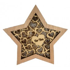 "Wooden Lightbox Star ""For You"""