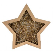 "Wooden Lightbox Star ""Rose"""