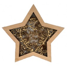 "Wooden Lightbox Star ""With Love"""