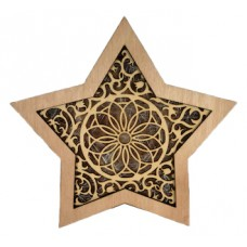 "Wooden Christmas Star ""Mandala"""