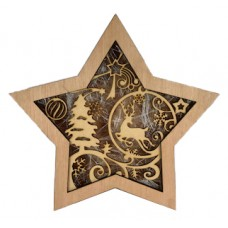 "Wooden Christmas Star ""Deer"""