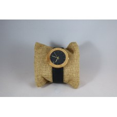 Luxury Bamboo Horloge Black