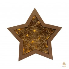 "Wooden Christmas Star ""With Love"""