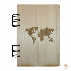 Notebook Worldmap A5