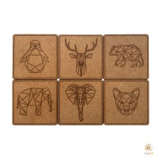 Geometric Animals: Set of 6 coasters