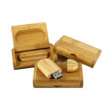 Wooden USB-stick Carbonized Bamboo 4GB