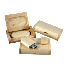 Wooden USB-stick Maple Wood 4GB
